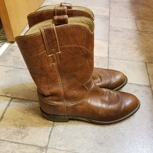 Justin Jackson Roper Brown Leather Boots 9